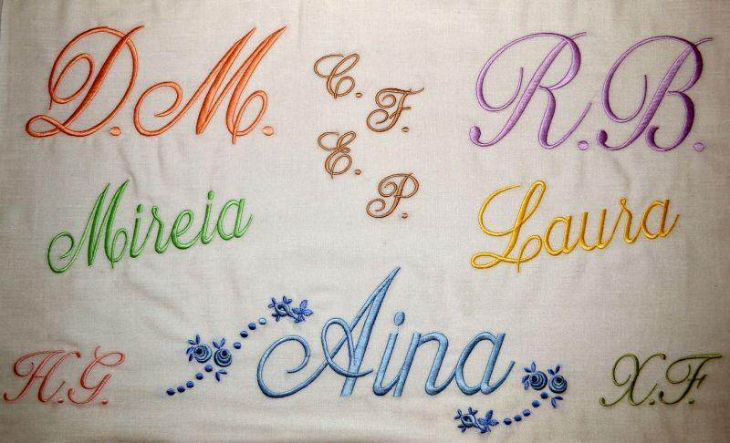 tipos de nombres bordados